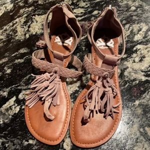 Never worn tasseled gladiator sandals